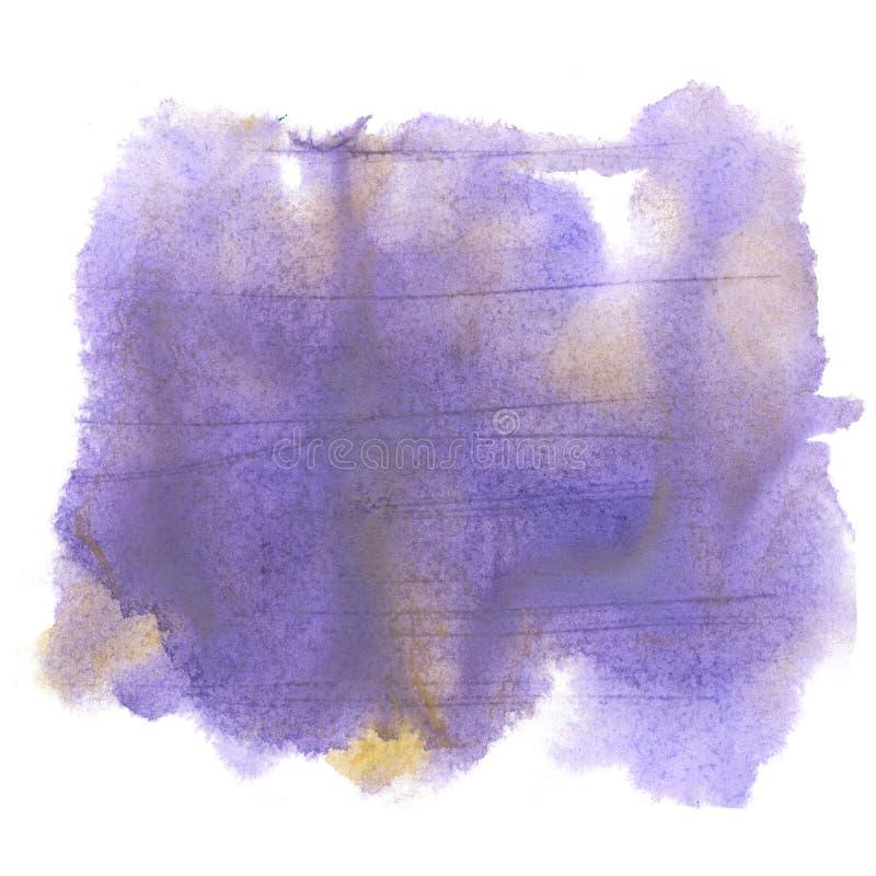 Aquarelle d'éclaboussure la baisse abstraite pourpre d'aquarelle a isolé la tache pour votre art de conception illustration stock