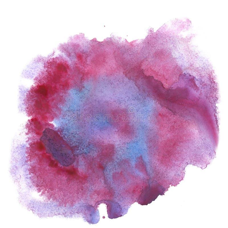 Aquarelle d'éclaboussure la baisse bleue rouge d'abrégé sur aquarelle a isolé la tache pour votre art de conception illustration de vecteur