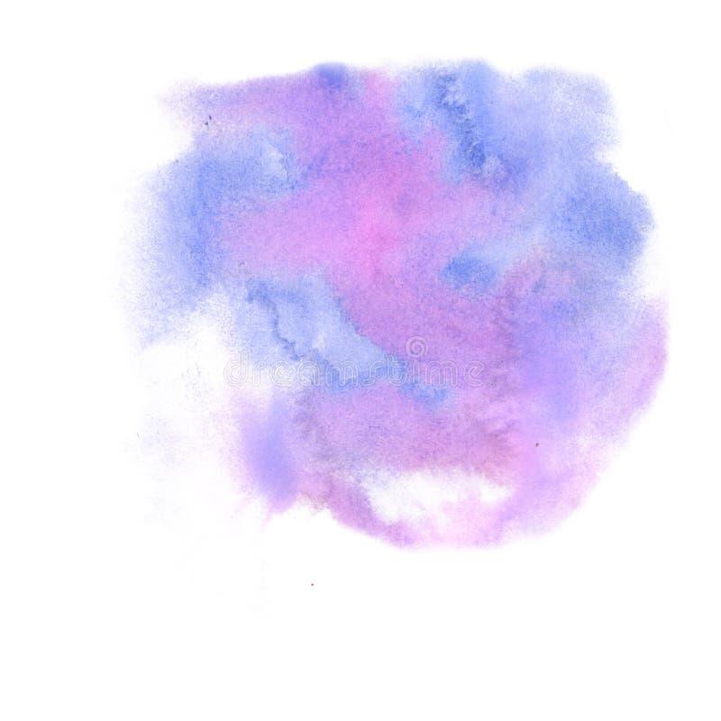 Aquarelle d'éclaboussure le pourpre abstrait de rose de baisse d'aquarelle a isolé la tache pour votre art de conception illustration libre de droits