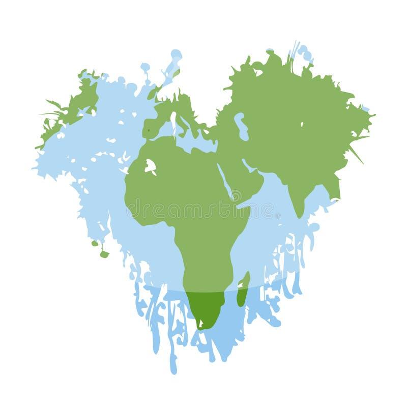 Aquarelle d'une planète de la terre illustration libre de droits