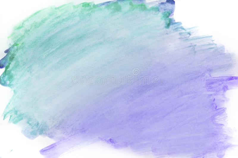 Aquarelle de fond, couleur pourpre taches pourpres lumineuses d'aquarelle photo stock