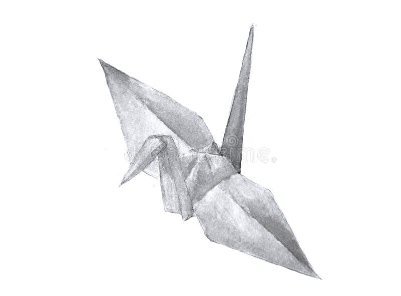 Aquarelle de grue d'origami illustration libre de droits