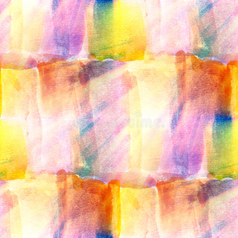 Aquarelle de photo d'art de lumière du soleil sans couture illustration stock