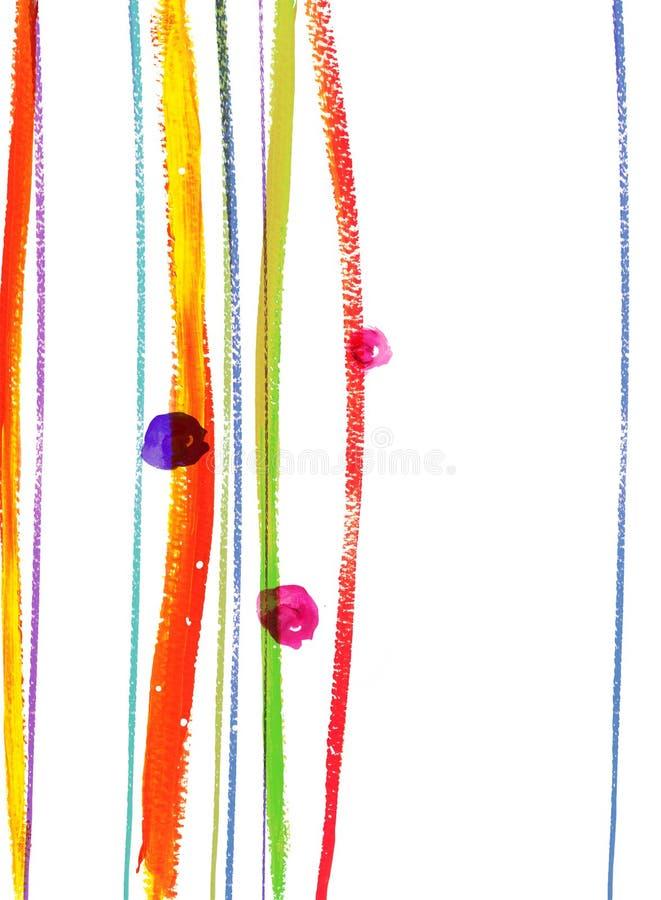 Aquarelle des lignes et du point illustration de vecteur
