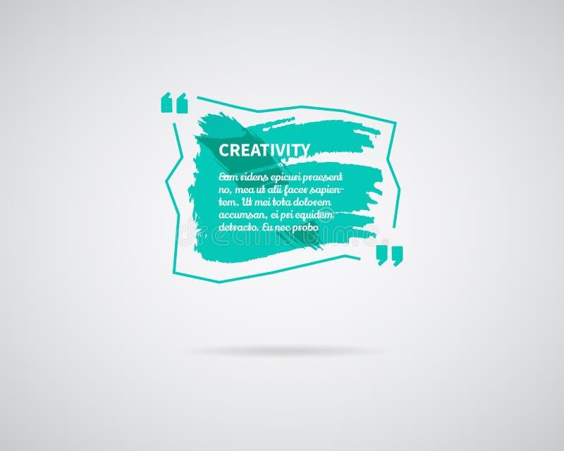 Aquarelle, encre, calibre de blanc de citation d'éclaboussure Bulle de citation Calibre vide Calibre de carte de visite professio illustration de vecteur