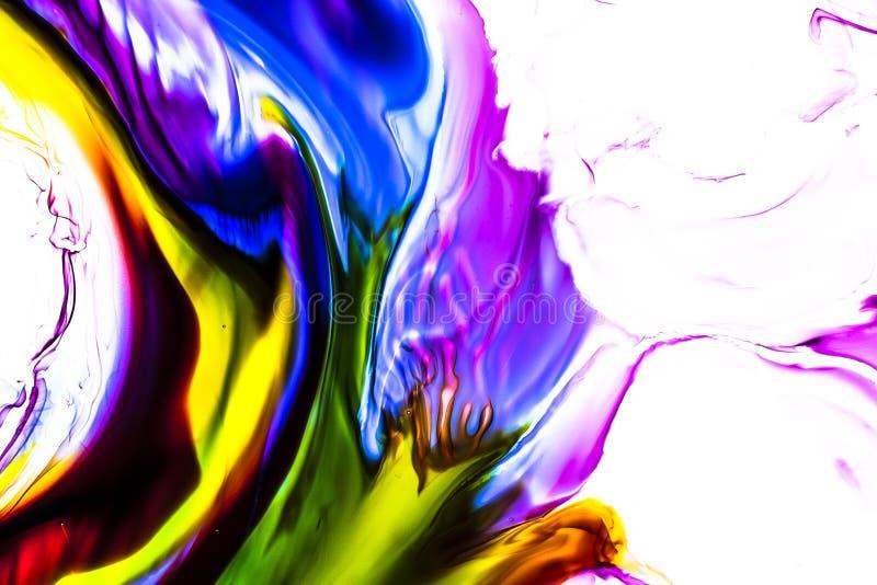 Aquarelle et r?sum? acrylique Fond color? Le m?lange, ?clabousse et des dessins de couleurs : bleu, rouge, vert, jaune, brun, bla photographie stock libre de droits