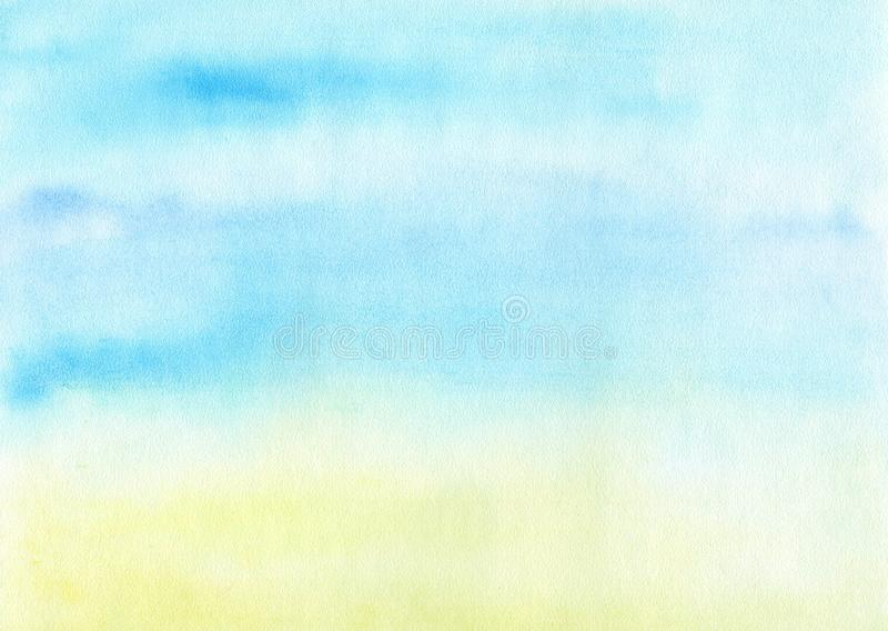 Aquarelle marine de fond illustration stock