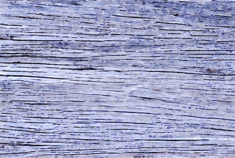 Aquarelle peignant le fond grunge de vacances de vieilles planches en bois image libre de droits