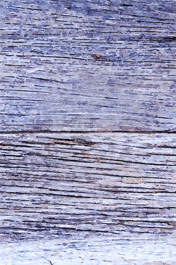 Aquarelle peignant le fond grunge de vacances de vieilles planches en bois photo stock