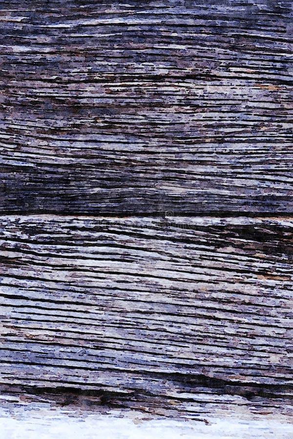 Aquarelle peignant le fond grunge de vacances de vieilles planches en bois photos libres de droits