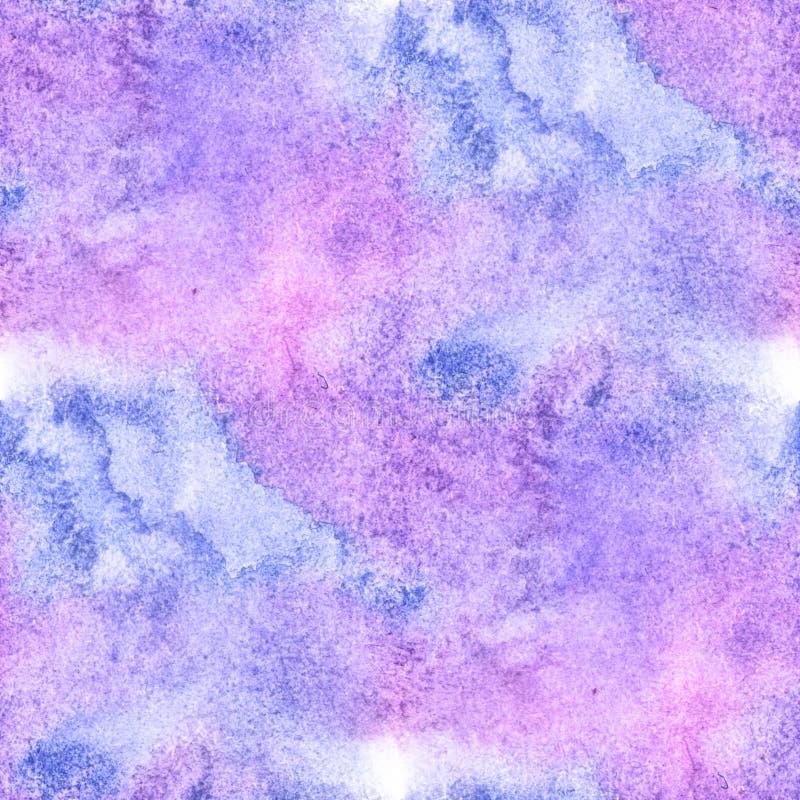 Aquarelle pourpre bleue sans couture colorée abstraite pour le fond Papier peint de peinture d'art d'aquarelle de Digital illustration stock