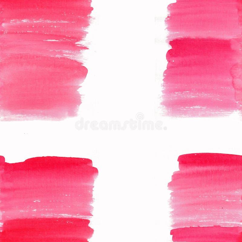 Aquarelle rose-clair de fond de modèle de tache de tache de bel bel été texturisé transparent lumineux abstrait illustration libre de droits