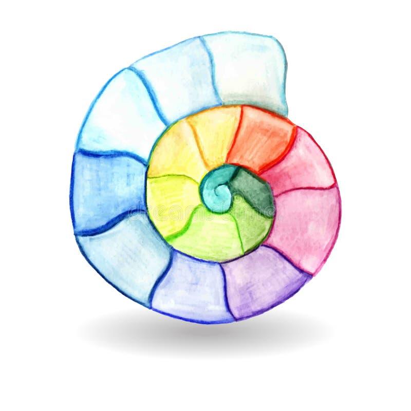 Aquarelle Shell de vecteur illustration libre de droits