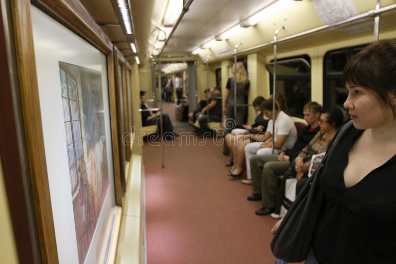 Download Aquarelle Train In Moscow Subway Editorial Photography - Image: 14279892