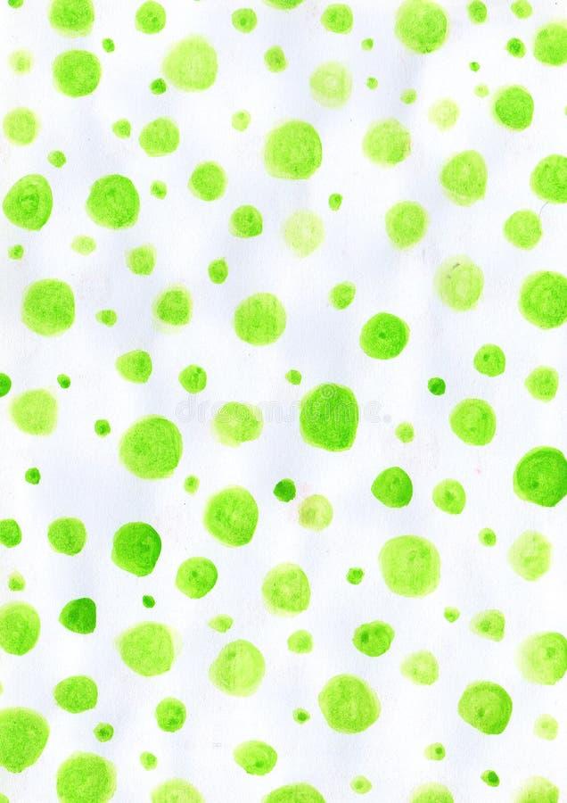 Aquarelle verte de modèle pour le fond utilisé photos stock
