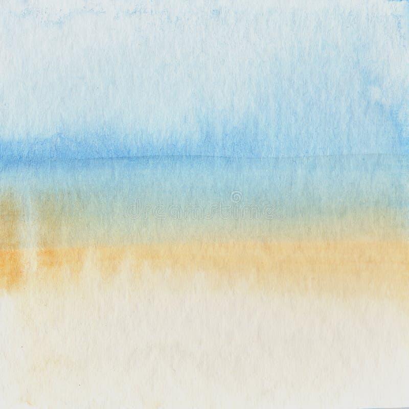 Aquarellfarbe auf altem Papierhintergrund lizenzfreies stockbild