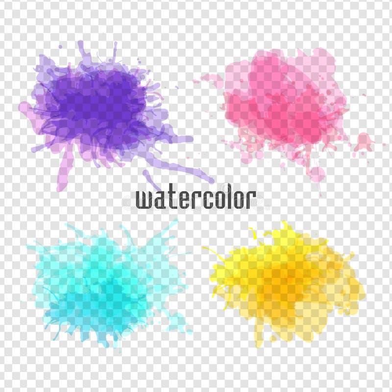 Aquarellfleck für Ihr Design stock abbildung