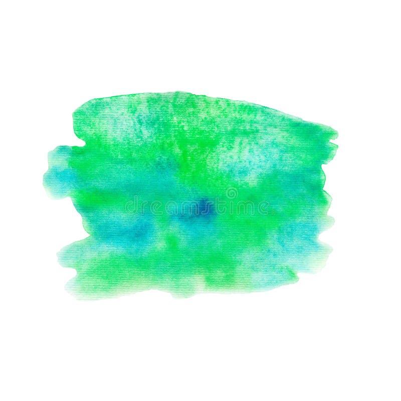 Aquarellfleck lokalisiert auf weißem Hintergrund, Beschaffenheit vektor abbildung