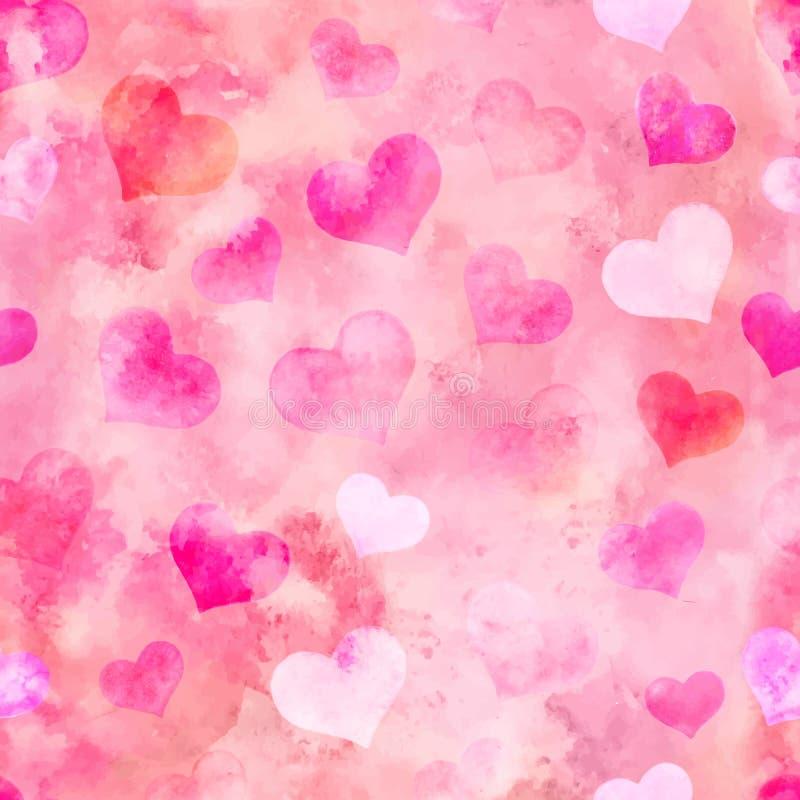 Aquarellherzen für Tag St.-Valentinsgruß-s Auch im corel abgehobenen Betrag E stock abbildung