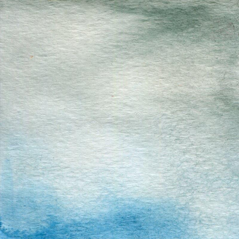 Aquarellillustration, Beschaffenheit Übergang, Infusion der Farbe, verbreitend Blaues Grau lizenzfreie abbildung
