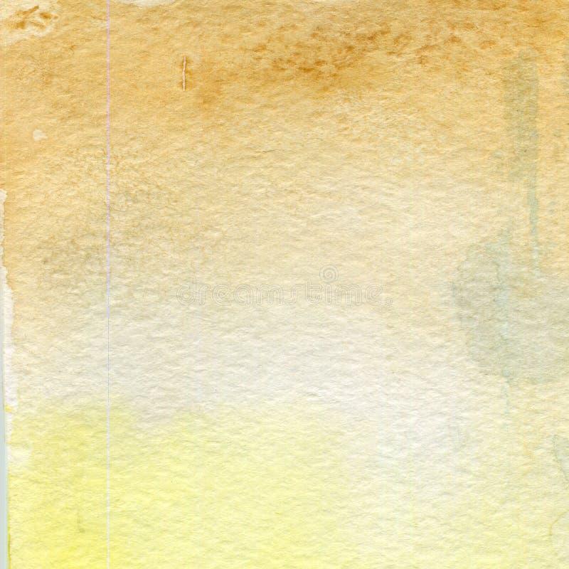 Aquarellillustration, Beschaffenheit Übergang, Infusion der Farbe, verbreitend Ockerhaltig, Braun lizenzfreie abbildung