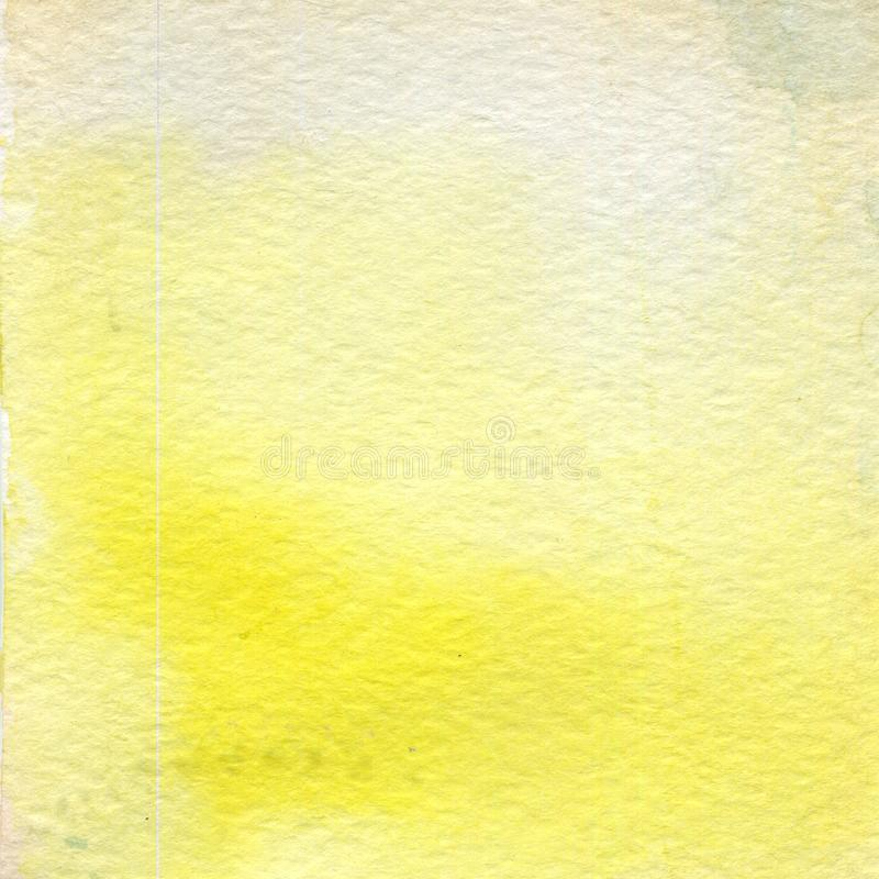 Aquarellillustration, Beschaffenheit Übergang, Infusion der Farbe, verbreitend Ockerhaltig, Gelb stock abbildung