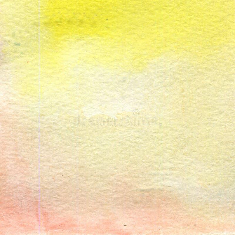 Aquarellillustration, Beschaffenheit Übergang, Infusion der Farbe, verbreitend Ockerhaltig, gelb, Rosa lizenzfreie abbildung