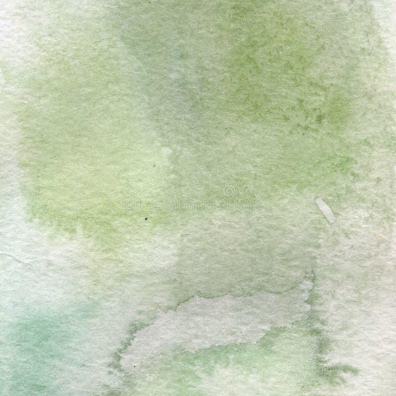 Aquarellillustration, Beschaffenheit Übergang, Infusion der Farbe, verbreitend Ockerhaltig, grün, grau lizenzfreie abbildung