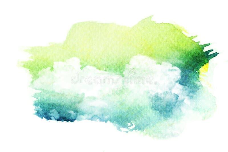Aquarellillustration der Wolke lizenzfreie abbildung