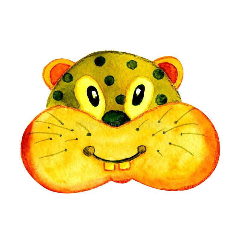 Aquarellillustration mit einem Bild eines Hamsternagetiers Für Entwurf von Drucken, Karten, Aufkleber lizenzfreie abbildung