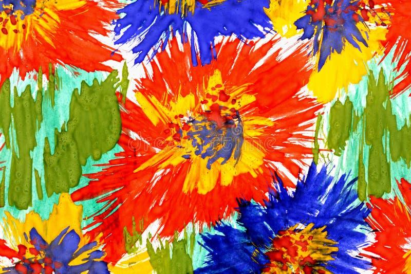 Aquarelllack. Blumenhintergrund vektor abbildung