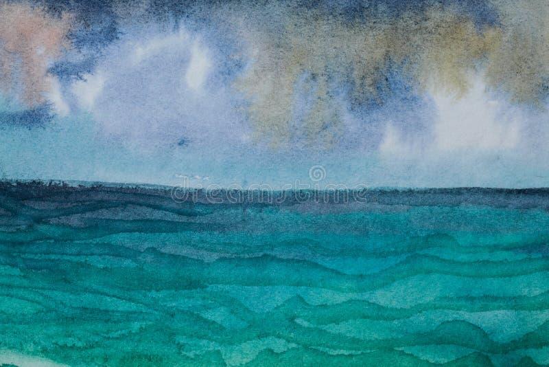 Aquarellmalerei lizenzfreie abbildung