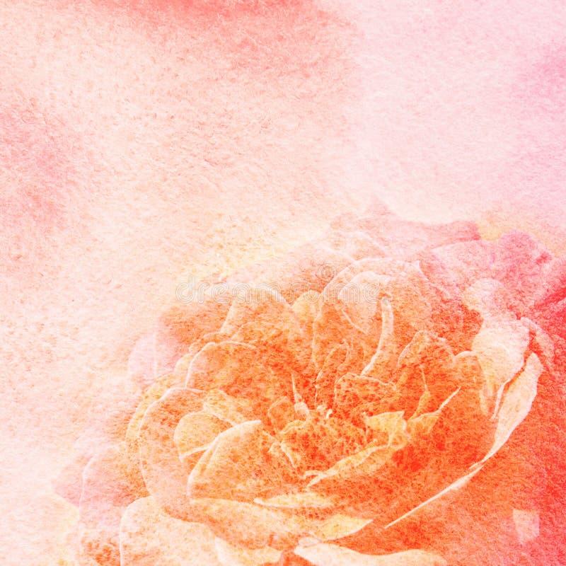 Aquarellmalerei redete Hintergrund mit Blume an vektor abbildung