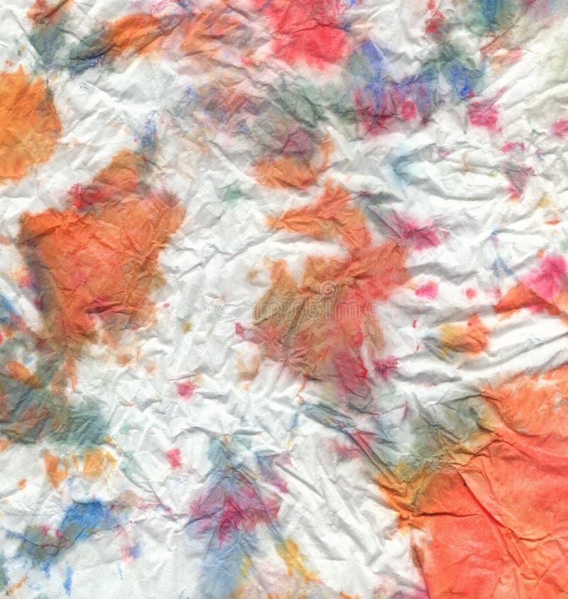 Aquarellmehrfarbiges zerknittert lizenzfreie abbildung