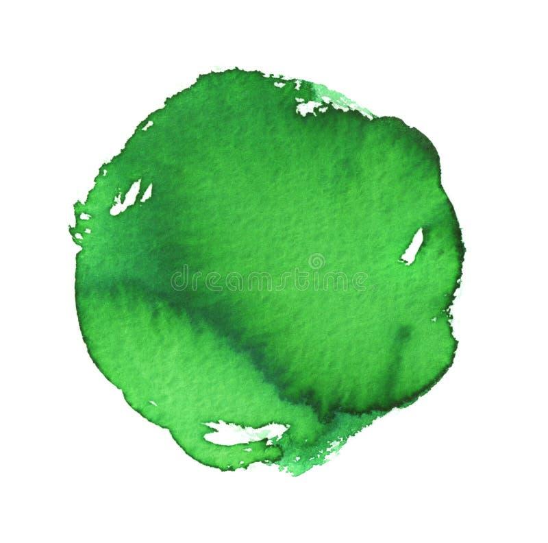 Aquarellschmutz-Grünfleck lizenzfreie abbildung