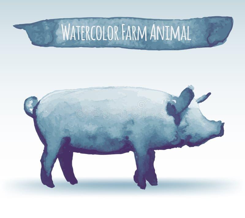 Aquarellschwein vektor abbildung