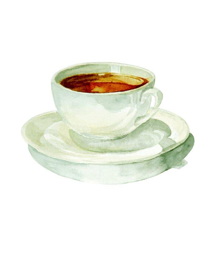 Aquarelltasse kaffee lizenzfreie abbildung