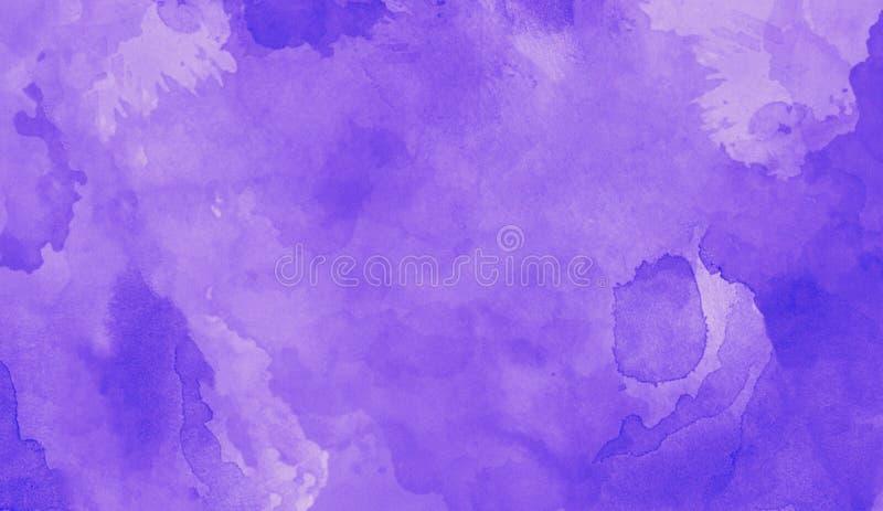Aquarelltinte auf violettem Hintergrund Entwerfen Sie für Hintergründe, Tapeten, Abdeckungen und Verpackung lizenzfreie stockbilder