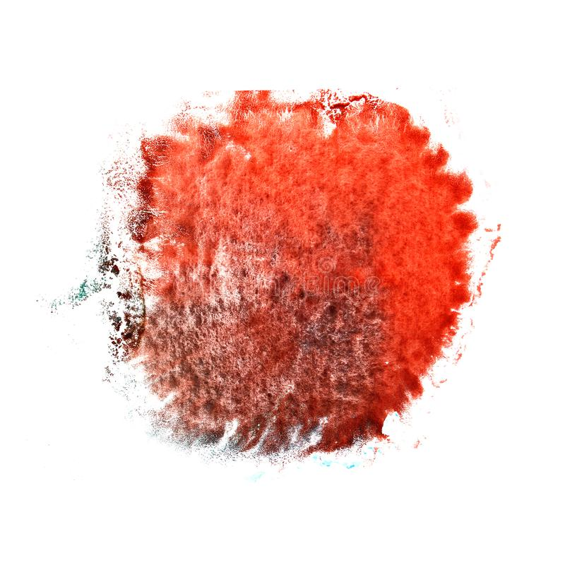 Aquarelltintenfarbenklecks Watercolour-Spritzen colorfu Art Thes rotes vektor abbildung