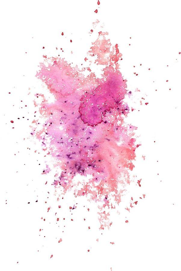 Aquarellzeichnung des abstrakten Spritzens der Aquarellfarbe spritzt lizenzfreie abbildung