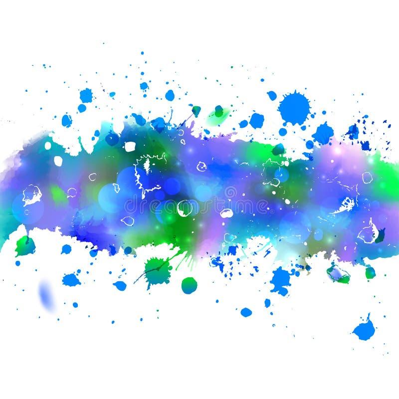 Aquarellzeichnungswinter-Windband mit spritzt lizenzfreie abbildung