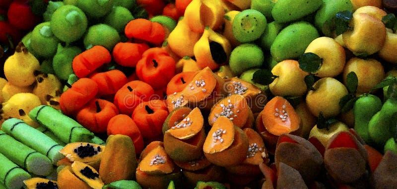 Aquarellzuckerfrucht vektor abbildung
