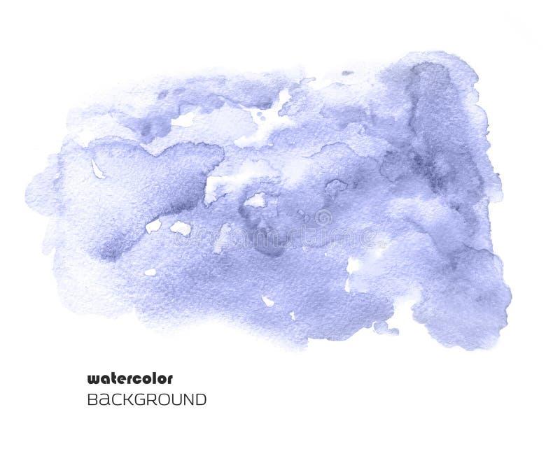Aquarellzusammenfassungsfleck lokalisiert auf weißem Hintergrund Unscharfer nasser Fleck für Ihr Design lizenzfreie abbildung