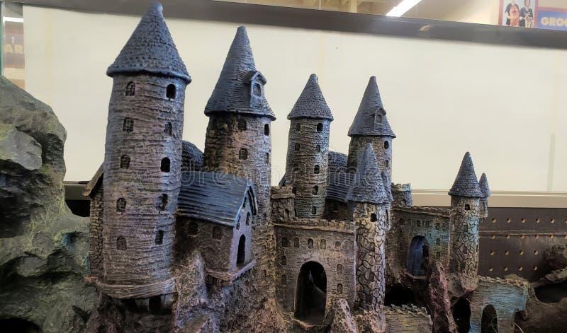 Aquariam decorative magical castle stock photography