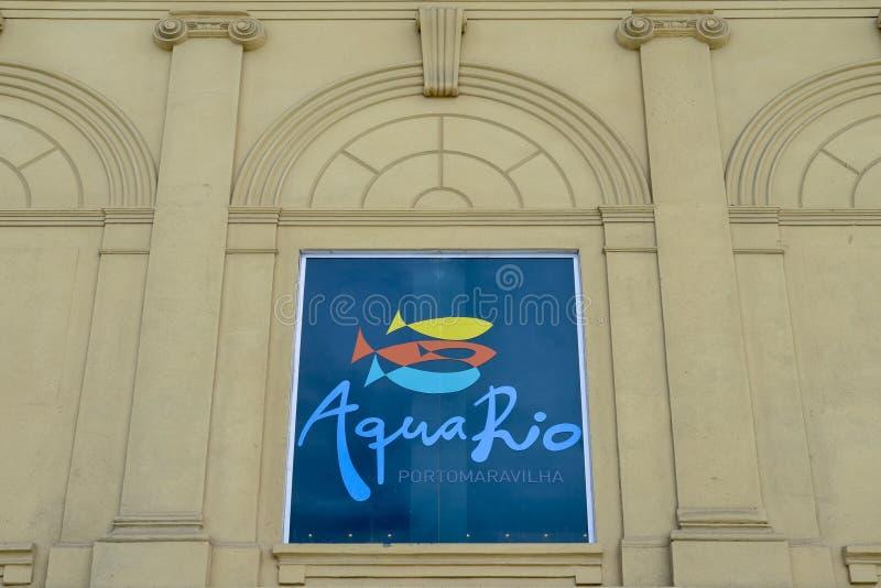 AquaRio, in 2016 wordt ingehuldigd bedraagt het grootste aquarium in Zuid-Amerika 26.000 vierkante meters die royalty-vrije stock afbeelding