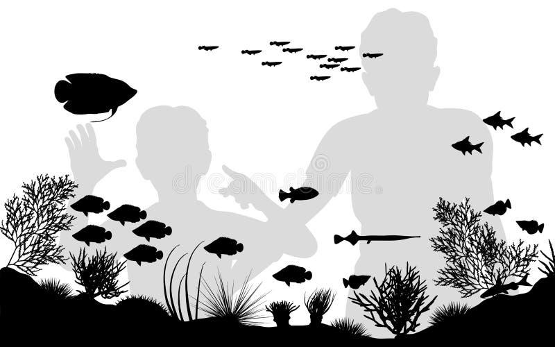 Aquarium lizenzfreie abbildung