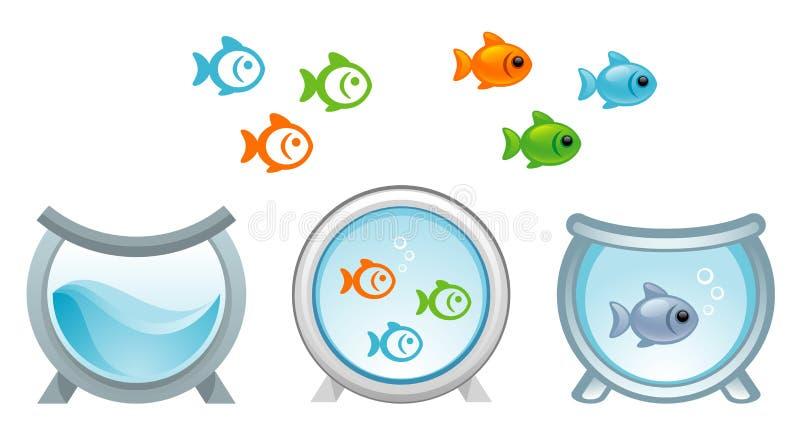 Aquarium royalty-vrije illustratie