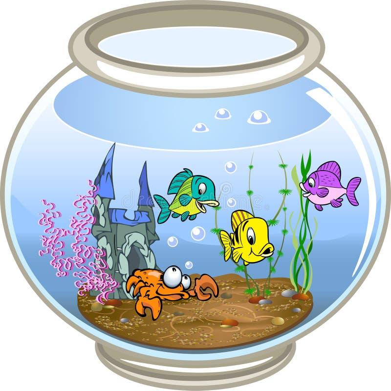 Aquarium illustration stock