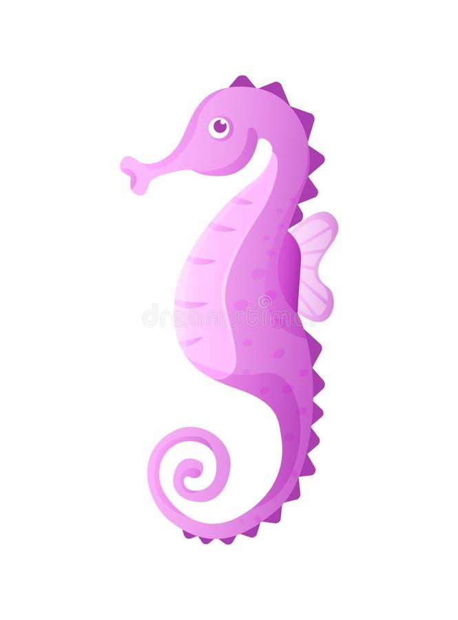 Aquarium cartoon seahorse ocean sea animals for games. Sea underwater life. Aquarium cartoon seahorse ocean sea animals for games. Seahorse animals isolated vector illustration