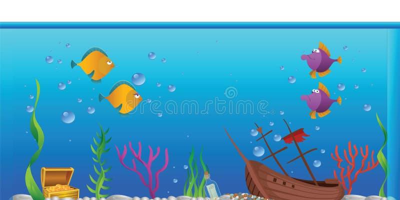 Aquarium fishtank stock illustratie